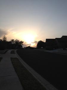 solnedgång texas